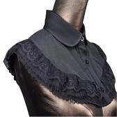 假領子領片 復古風披肩斗篷式領片 洋裝大學T針織衫外套內搭黑白色[E1273] 預購.朵曼堤洋行
