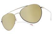 PRADA 太陽眼鏡 SPS50S ZVN-1C0 (銀-白水銀灰鏡片) 俐落飛行款 墨鏡 # 金橘眼鏡