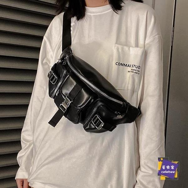 後背包 個性時尚斜背胸包男 戶外運動男女小胸包 街頭潮流腰包後背包 外出必備