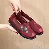 老北京布鞋女網鞋中老年人透氣平底閏月媽媽鞋防滑軟底老人奶奶鞋 蘿莉小腳丫