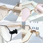 韓版兒童太陽鏡親子鏡小孩男女童平光鏡八角手掌眼鏡框架     時尚教主