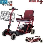 【海夫健康生活館】必翔 電動代步車 鉛酸電瓶/輕型折疊款(TE-FS4)