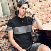 中大尺碼 短袖POLO衫2018新款男士韓版有帶領港風修身潮流夏裝 mc10164『男人範』