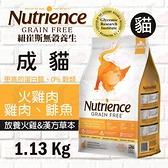 PRO毛孩王 紐崔斯 無穀養生貓 - 火雞肉+雞肉+鯡魚 1.13kg 無穀 貓飼料