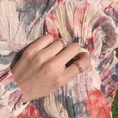 時尚可調節玫瑰金戒指女