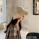 帽子女韓版漁夫帽日系夏季薄款網紅遮陽防曬帽遮臉太陽盆帽ins 夏季新品