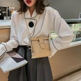 側背包 小包包女2019新款潮洋氣百搭水桶包時尚透明鏈條單肩包斜挎包
