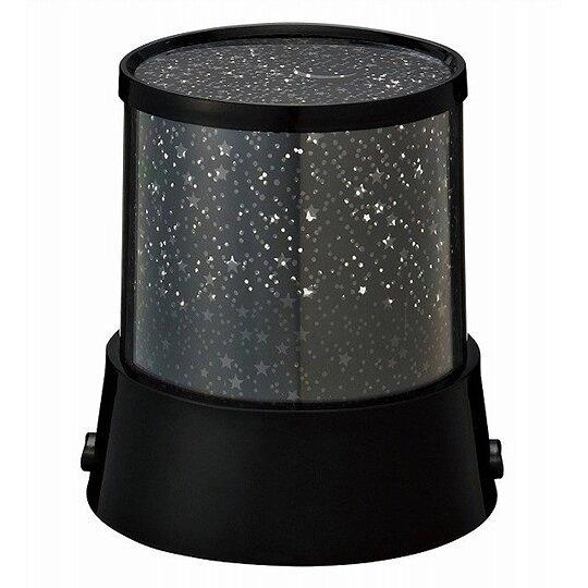 小禮堂 圓柱型LED變色投影燈 星空夜燈 小夜燈 夜光燈 裝飾燈 (黑) 4527231-05727