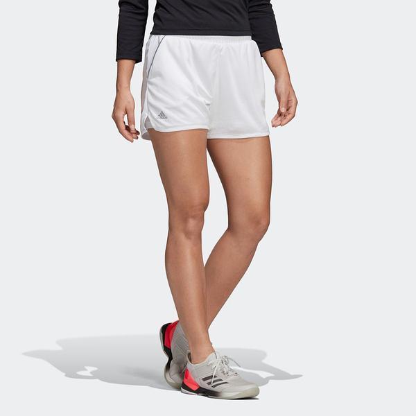 ADIDAS 短褲 CLUB HIGH RISE SHORTS 白 網球 透氣 排汗 訓練 女 (布魯克林) DU0973