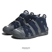 NIKE 休閒鞋 AIR MORE UPTEMPO GS 氣墊 避震 大AIR 喬治城 灰 藍 女 (布魯克林) 415082-009