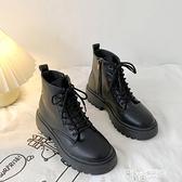 黑色顯腳小馬丁靴女夏季薄款潮ins2021新款英倫風網紅瘦瘦短靴子 夏季狂歡