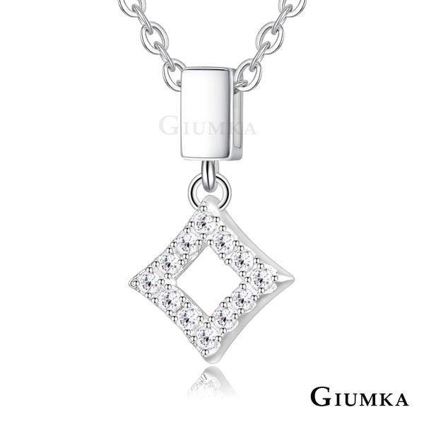 GIUMKA 925純銀項鏈 小菱形 幾何造型系列 純銀項鍊 鎖骨鍊 MNS07081