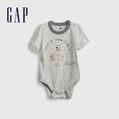Gap嬰兒 Gap x Star Wars星際大戰系列刺繡包屁衣 803367-灰色