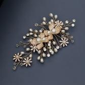 珍珠髮夾-水鑽唯美花朵水晶頭飾73xr2【時尚巴黎】