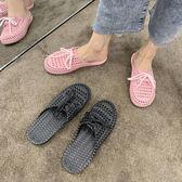 夏季涼拖鞋女包頭外穿休閒防滑百搭平底鞋女士鏤空洞洞鞋 moon衣櫥