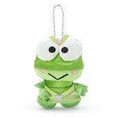 小禮堂 大眼蛙 絨毛吊飾 玩偶吊飾 玩偶鑰匙圈 (綠 英雄戰隊) 4550337-06187