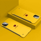 蘋果11手機殼愛心無邊框直邊潮牌11promax防摔超薄硬殼新款網紅11pro圖案創意男女款防摔超薄保護套