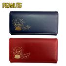 【日本正版】史努比 掀蓋式 長夾 皮夾 錢包 Snoopy PEANUTS 258231 258248