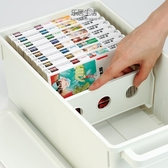 CD收納盒日本進口INOMATA創意光盤收納盒視窗CD置放箱DVD光盤整理盒碟片盒【快速出貨】