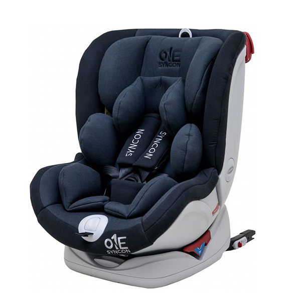 Syncon欣康 ONE 0-12歲ISOFIX全歲段360度汽車安全座椅(汽座) -灰黑