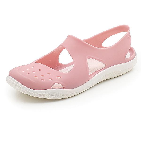洞洞鞋 百搭防滑學生軟底果凍包頭沙灘涼鞋洞洞鞋塑料涼鞋女夏