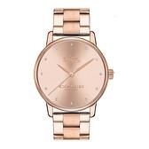 COACH 優雅簡約玫瑰金時尚腕錶/14502929