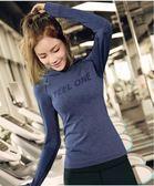 【新年鉅惠】喚醒馬甲線 緊身上身女連帽健身跑步速干身運動T恤修身瑜伽服長袖