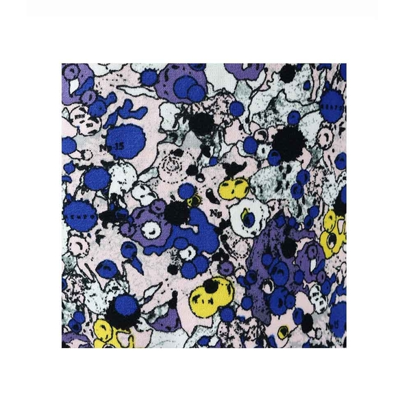 【KENZO】塗鴉針織短袖洋裝(粉/紫) 2R0585823 34