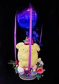 30cm絨毛布丁狗幸福熱氣球,金莎花束/情人節禮物/婚禮佈置/派對慶生/求婚,節慶王【Y030066】