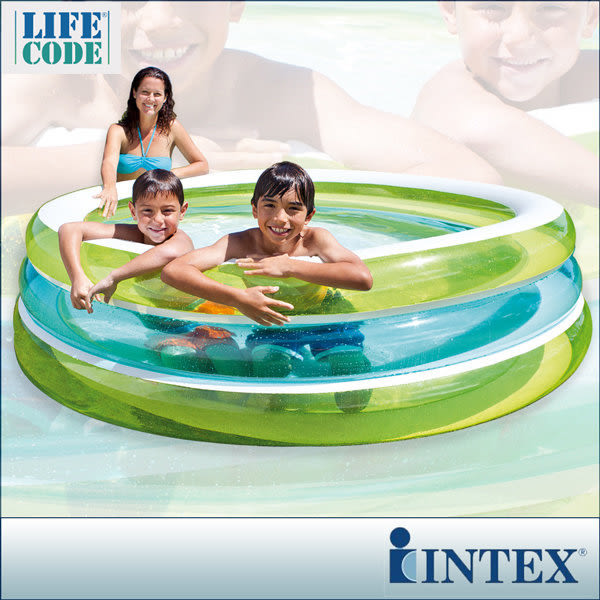 【INTEX】圓型三層透明戲水游泳池(203*203cm)(742L) 15120070(57489)