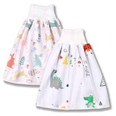 寶寶隔尿裙 (M號) 嬰幼兒尿褲 高腰護肚隔尿裙 卡通 隔尿墊 三層防水兒尿墊 RA11701