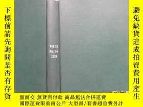 二手書博民逛書店Ultrasonics罕見Vol.21 No.1-6 1983Y