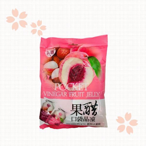 【台酒TTL】果醋口袋晶凍(水蜜桃、荔枝兩種口味) 單包