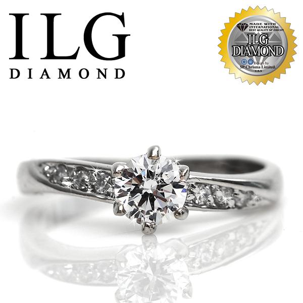 【ILG鑽】頂級八心八箭鑽石戒指-甜心魅力款 主鑽50分 完美輕奢華鑽戒情人節紀念日禮物 RI003
