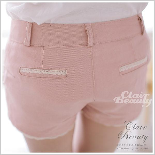 短褲 口袋珠珠裝飾褲管蕾絲短褲【P522】☆雙兒網☆ Sunshine