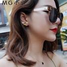 MG 耳墜-韓版氣質個性不對稱花朵耳環