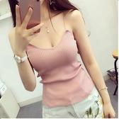 【HN10】新款夏裝V領針織吊帶女裝細帶背心打底衫內搭上衣夏外穿