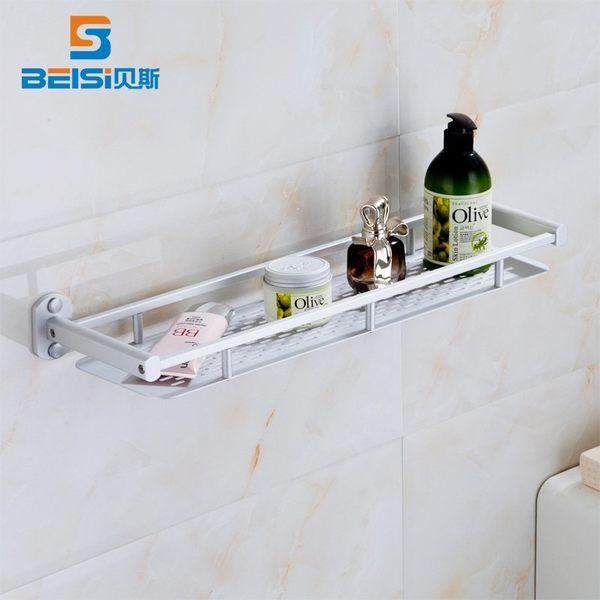 小熊居家廁所置物架收納衛生間置物架壁掛衛浴置物架收納浴室架全實心加厚40cm
