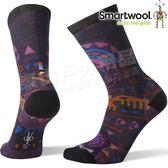 Smartwool Curated SW003823-241燕麥棕  女印花輕薄中長襪 美麗諾羊毛襪/機能排汗襪