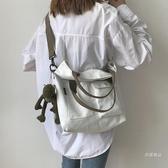 側背包 單肩手提帆布包包大容量女包新款2019大學生上課斜挎包女百搭ins【快速出貨】