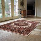 范登伯格 紅寶石輕柔絲質感地毯-踏墊-門墊-皇宮(米)-100x140cm