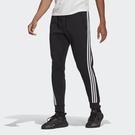 Adidas 3-Stripes 男款黑色基本三線束口長褲-NO.GM6462