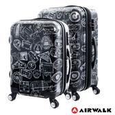 AIRWALK LUGGAGE - 精彩歷程 環郵世界行李箱20+24吋二箱組- 遊玩靚黑