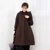 正韓 綁帶元素保暖A字型洋裝 (6515) 預購