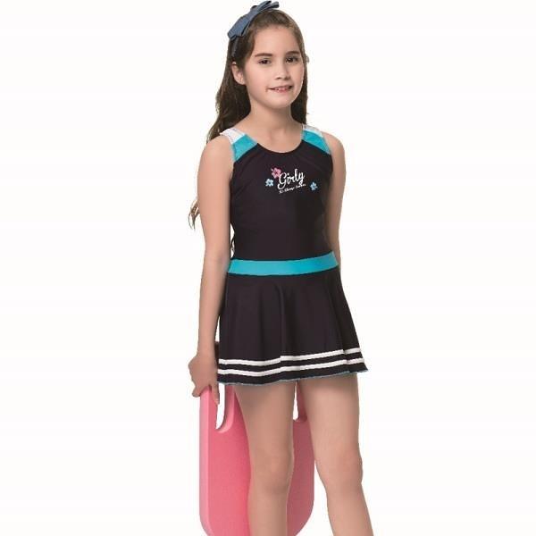 【南紡購物中心】【SAIN SOU】泡湯 SPA中童連身裙泳裝附泳帽A78801-06