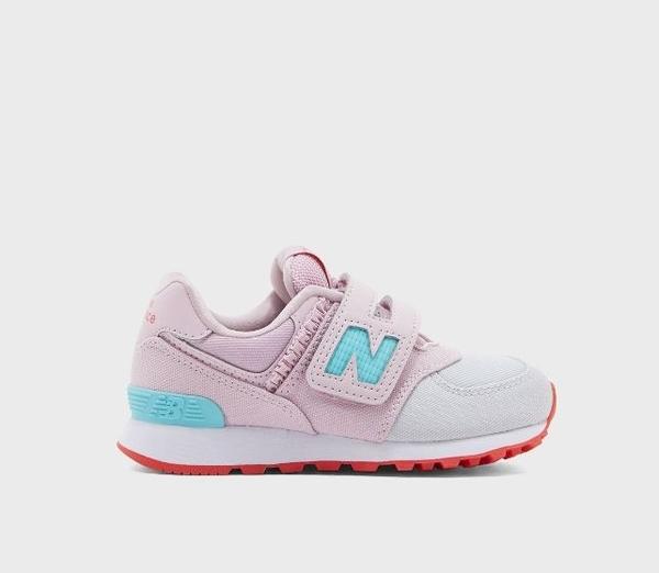 New Balance 中童粉白運動休閒鞋-NO.YV574DMR