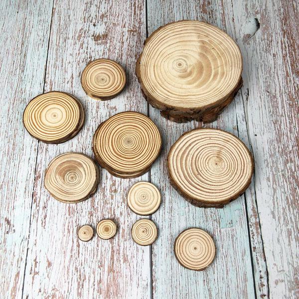 BEAGLE 現貨-約13-14CM,厚度:1CM 擺件 底座 小圓木 圓木片 實木片 松木 苔蘚微景觀飾品 10送1