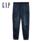 Gap男裝棉質舒適童趣休閒短褲599158-中度靛藍