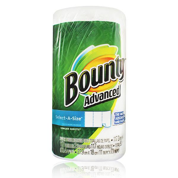 美國 Bounty廚房清潔紙巾(隨意撕) 117張/入