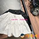 韓系女童純色蛋糕裙洋氣兒童半身裙中大童防走光裙褲【淘嘟嘟】